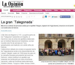 Talegón, desde 1582
