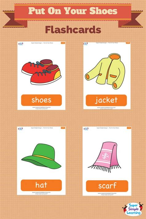 Talk about cold weather clothes with flashcards for the ...