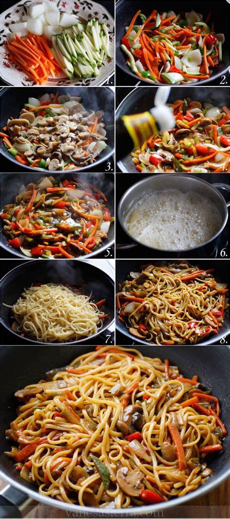 Tallarines con verduras, paso a paso (receta china)… – I ...
