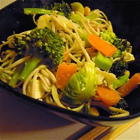 Tallarines con verduras - Receta de cocina