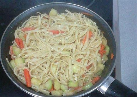 Tallarines con verduras Receta de jaramillo - Cookpad