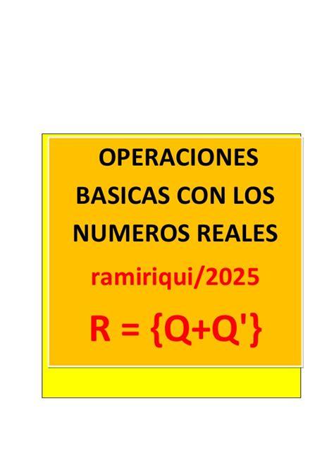 Taller operaciones con numeros reales