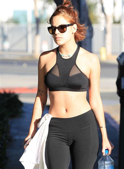 Tallulah Willis in Leggings - Leaving a Gym in Beverly ...