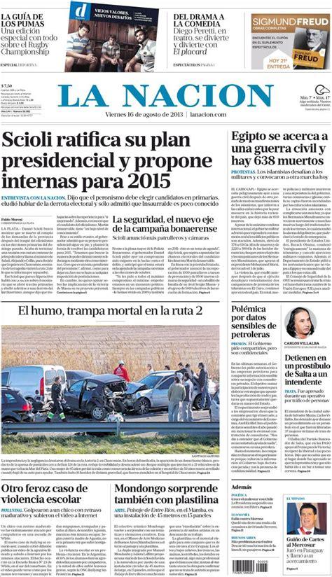 Tapas principales diarios argentinos (16/08/2013) - Taringa!