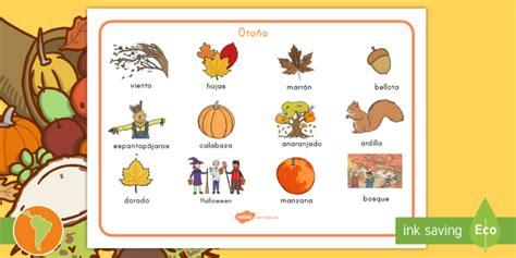 Tapiz de vocabulario: El otoño   tapiz de vocabulario, otoño