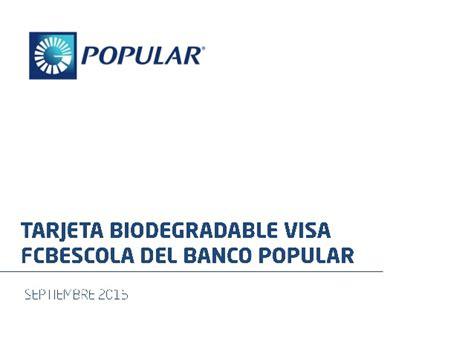 Tarjeta Credito Cepsa Banco Popular