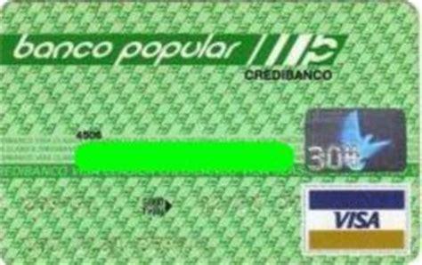 Tarjeta de Banco: Banco Popular (Banco Popular, Colombia ...