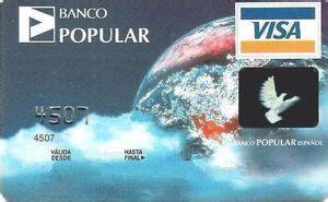 Tarjeta de Banco: Banco Popular (Banco Popular, España ...