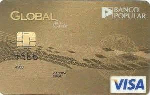 Tarjeta de Banco: GLOBAL elite (Banco Popular, España) Col ...