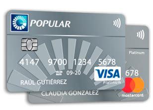 Tarjeta de Crédito Platinum - Banco Popular