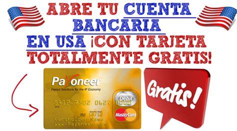 Tarjeta de Debito: Cuenta Gratis en USA con Tarjeta Payoneer
