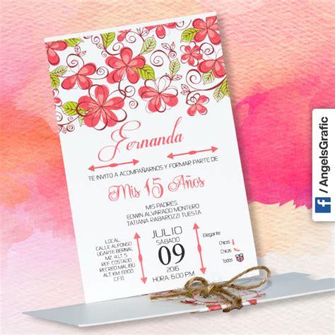 Tarjeta de Invitación para Quince Años  qn 6111    Angels ...