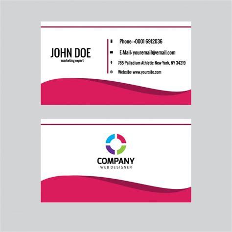 Tarjeta de visita con la onda de color rosa | Descargar ...