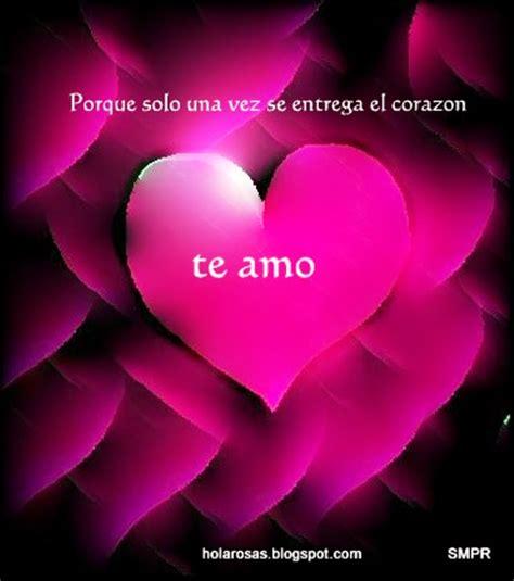 Tarjetas amor corazones mensajes romanticos te amo | Liebe ...