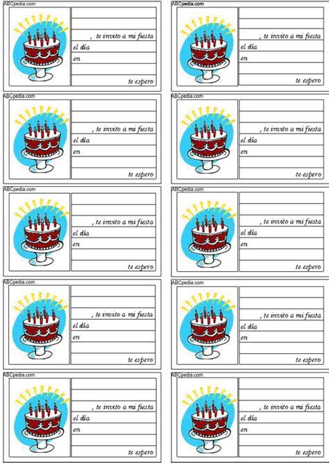 Tarjetas de invitacion para cumpleaños   Version para ...
