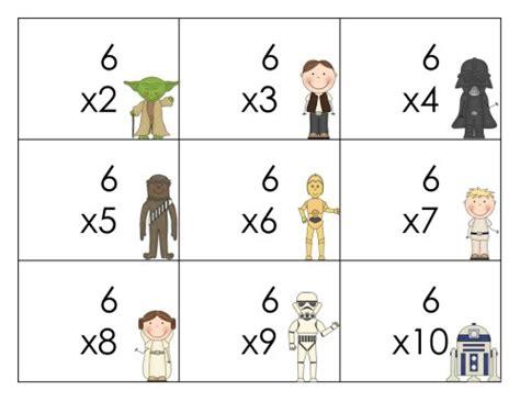 Tarjetas llavero para trabajar las tablas de multiplicar ...
