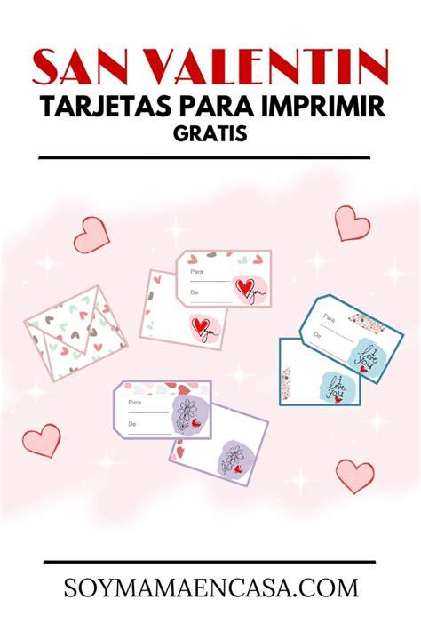 Tarjetas para Imprimir en San Valentín