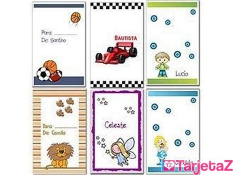 Tarjetas personales infantiles para imprimir gratis   Imagui