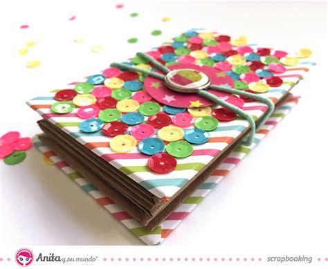 Tarjetero con cartulina kraft y papel scrapbook paso a paso