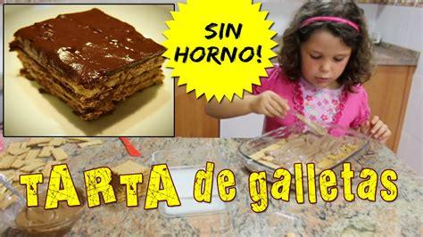 TARTA de galletas SIN HORNO * Recetas fáciles para niños ...