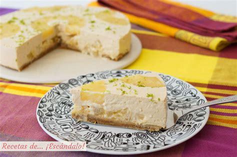 Tarta de piña y yogur fría sin horno. Receta fácil ...