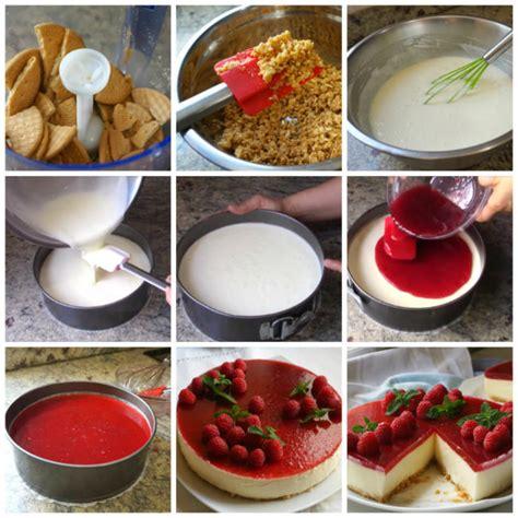 Tarta de queso SIN HORNO con mermelada (fácil y rápida ...