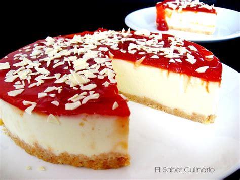 Tarta sin horno con chocolate blanco y yogur | El Saber ...