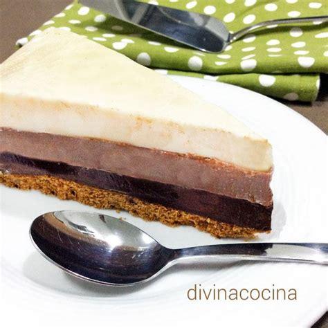 Tarta tres chocolates sin lactosa   Divina Cocina