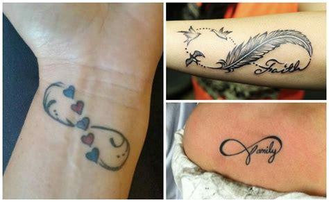 Tatuajes de infinito con nombres, plumas, iniciales y ...