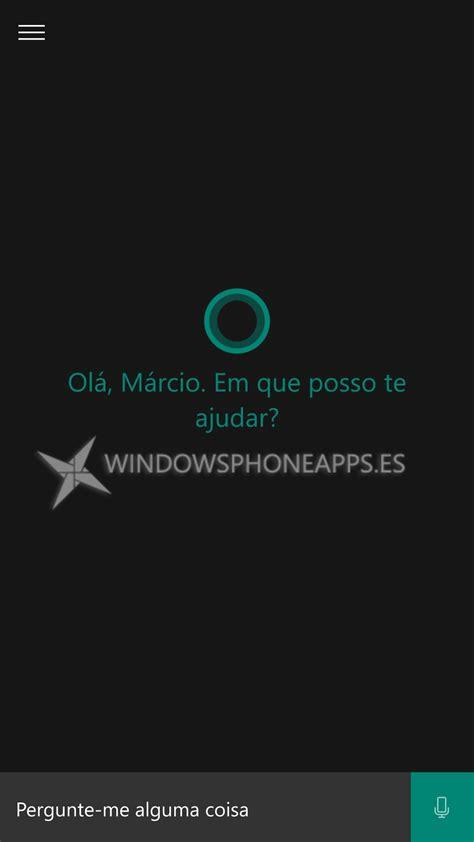 Te mostramos imágenes de Cortana en Portugués desde ...