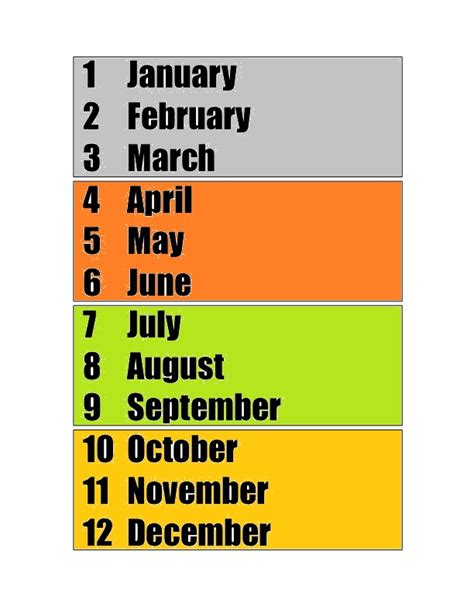 Teaching Language: MONTHS OF THE YEAR