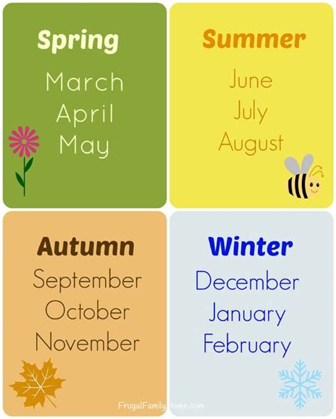 Teaching the Seasons and Months, Free Printable ...