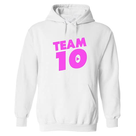 Team 10 Pink logo Hoodie Tie Dye Jake Paul S Ten ...