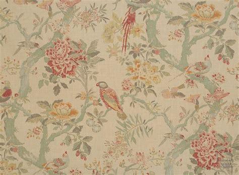 Tela Flores y Pájaros Vintage. La Naturaleza nos inspira