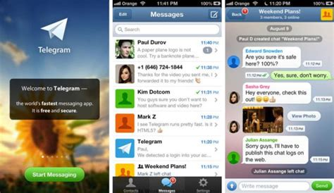 Telegram: aplicación de mensajería con función de ...
