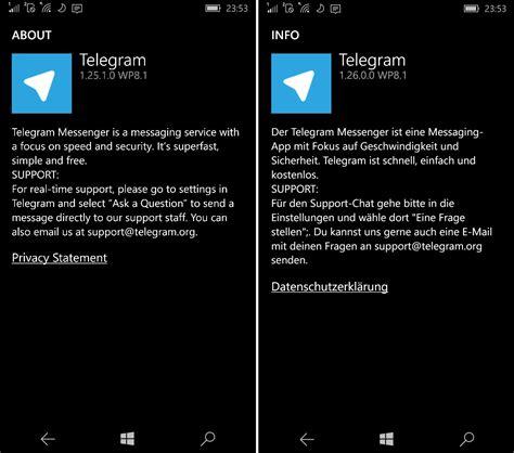 Telegram Messenger erhält Update für Windows 10 Mobile ...