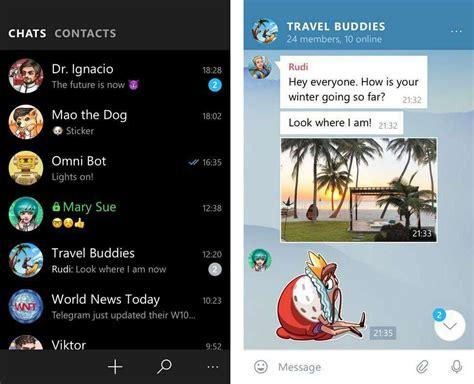 Telegram para Windows 10 Mobile se actualiza a la nueva ...
