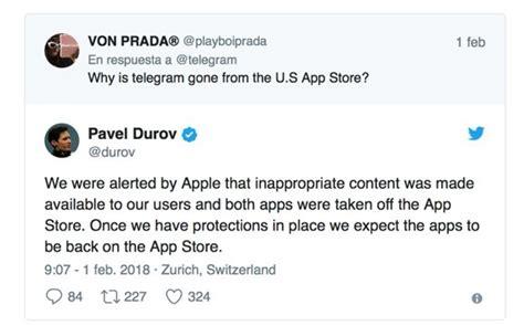 Telegram un día de baja de la Apple Store por problemas de ...