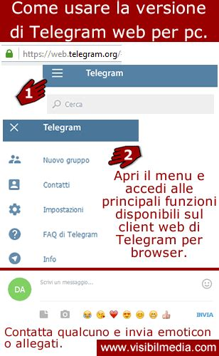 Telegram web desktop - Visibilmedia