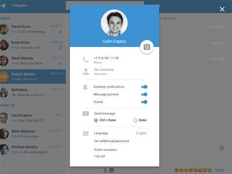 Telegram Web Settings Redesign by Eygeny Gulin - Dribbble