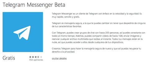 Telegram ya tiene app oficial para Windows Phone ...