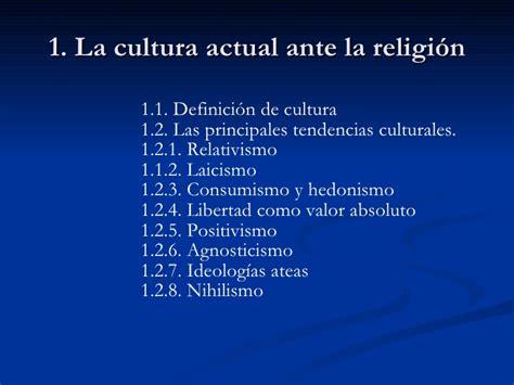 Tema 1. La cultura actual ante la religión