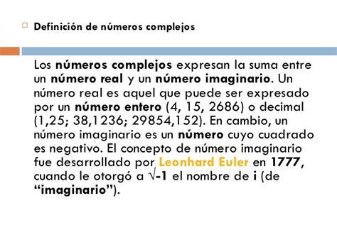 Tema numeros complejos
