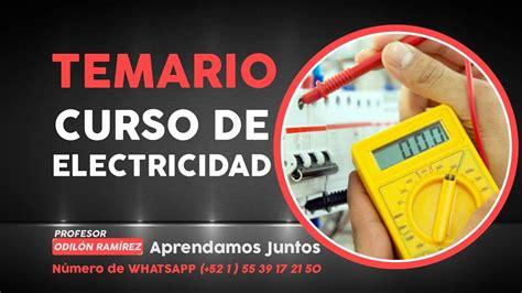 Temario CURSO ELECTRICIDAD   YouTube