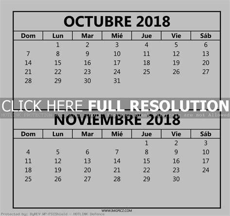 Template to Print — Octubre Noviembre 2018 Calendario