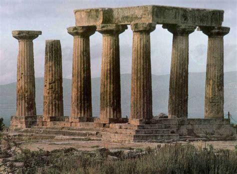 Templo de Apolo en Corinto. Arte griego   estampados ...