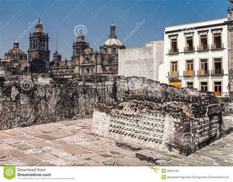 Templo Mayor Mexico City Cathedral Stock Photo - Image ...