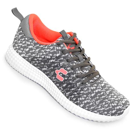 Tenis Charly Sport   Gris y Coral