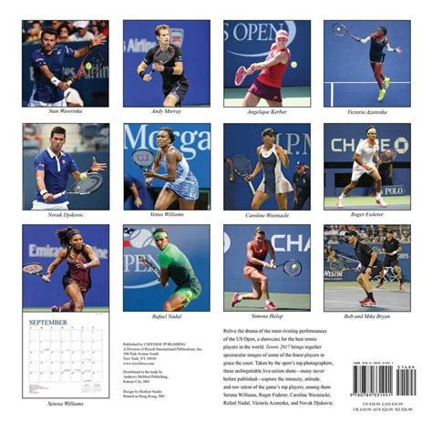 Tennis The U.S. Open   Calendarios 2019