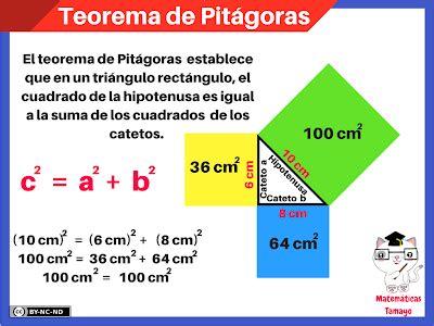 TEOREMA DE PITÁGORAS - Matemáticas Tamayo